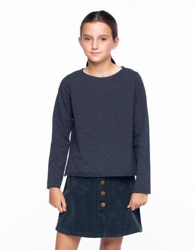 Camiseta manga larga raya antracita y azul - Ver todo > - Nícoli