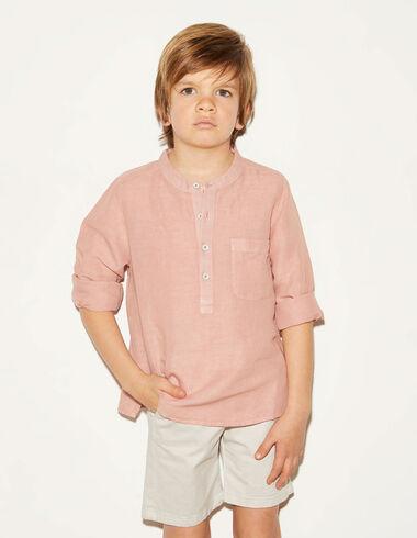 Strawberry linen mandarin shirt - View all > - Nícoli