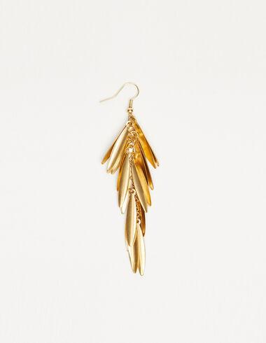Boucle d'oreille feuilles dorée - The jewellery edition - Nícoli