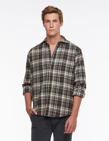 Green tartan V-neck shirt - View all > - Nícoli