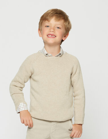 Boy's beige round neck sweater - View all > - Nícoli