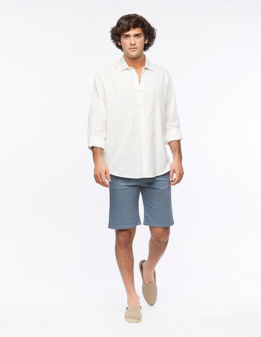 Blue chino shorts - View all > - Nícoli