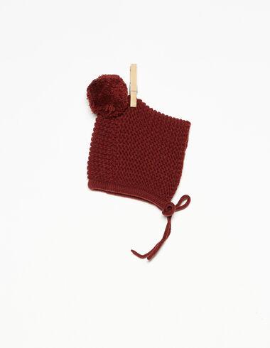 Terracotta bonnet with pompom - View all > - Nícoli
