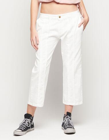 Pantalon droit blanc à franges - Voir tout > - Nícoli