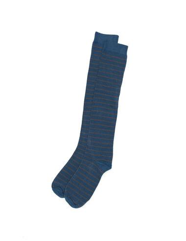 Blue and grey striped socks - Socks - Nícoli