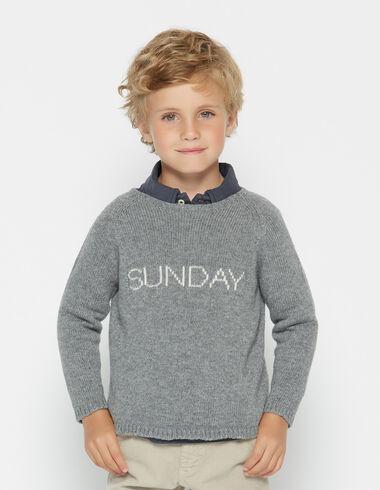 Boy's grey Sunday sweater - View all > - Nícoli