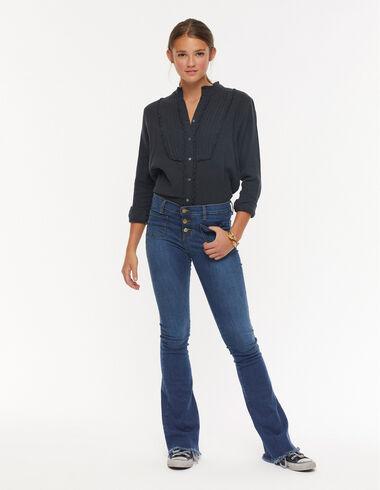 Dark denim flared jeans - View all > - Nícoli