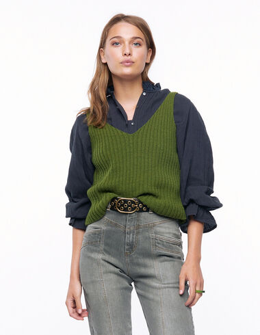 Green ribbed top - View all > - Nícoli