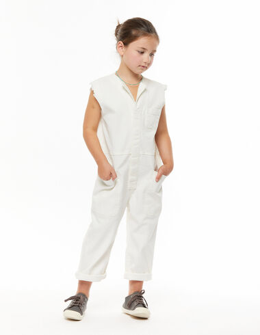 White short-sleeved long jumpsuit - View all > - Nícoli