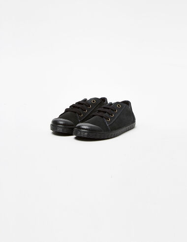 Plimsolls with anthracite laces  - Accessories - Nícoli