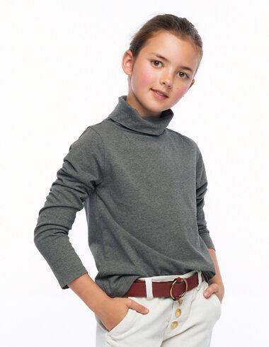 Camiseta cuello vuelto gris - Ver todo > - Nícoli