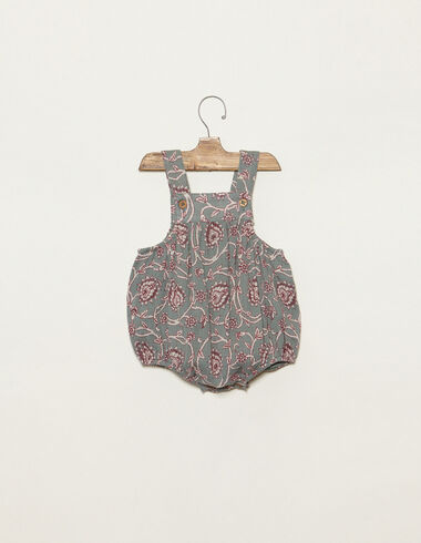 Green Indian print romper with buttons - View all > - Nícoli