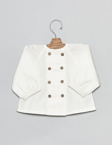 Baby blouse with wooden buttons - Shirts - Nícoli