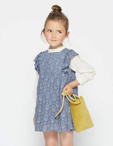 Girl's blue paisley pocket dress - View all > - Nícoli