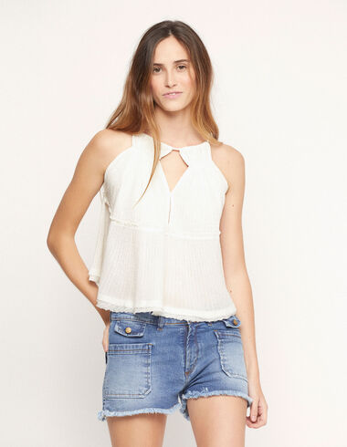 White flared top - View all > - Nícoli