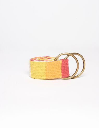 Strawberry checkered belt - The Spring Colour For Kids - Nícoli