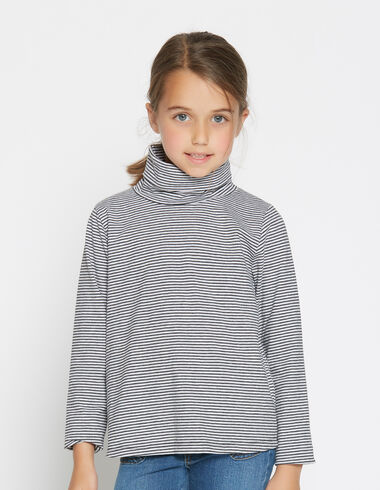 Girl's anthracite turtle neck top - Shirts - Nícoli