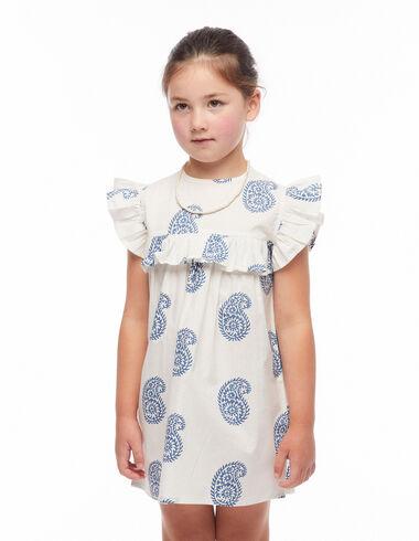 Vestido corte volante paisley grande azul - Ver todo > - Nícoli