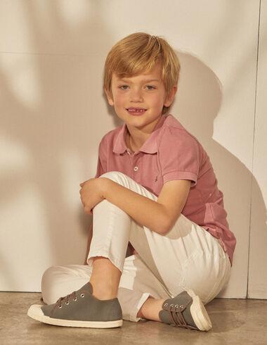 Pantalón niño 5 bolsillos blanco - Pantalones largos - Nícoli