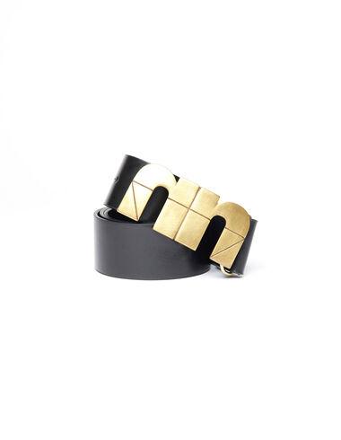 Cinturón negro chapa 'N' dorado - Ver todo > - Nícoli