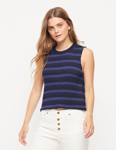 Sparkly striped blue top - View all > - Nícoli