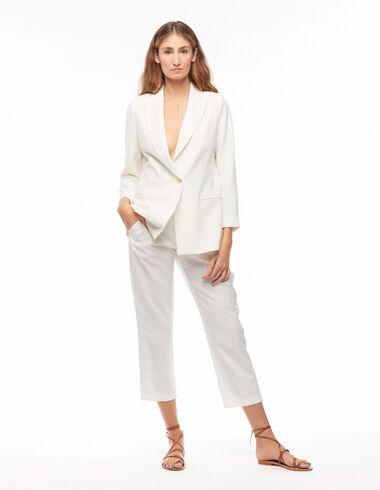 Pantalón recto bolsillos blanco - New Embroidered Paterns - Nícoli