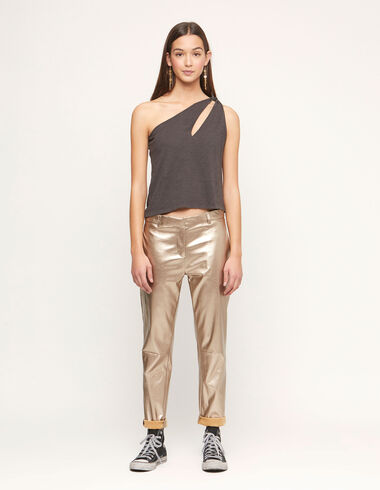 Golden baggy trousers - View all > - Nícoli