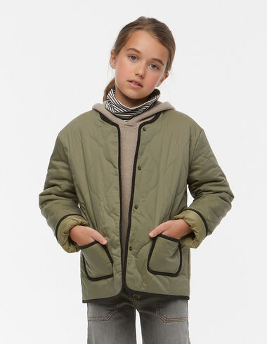 Green quilted coat - View all > - Nícoli