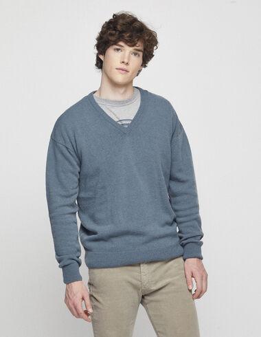 Men´s green v-neck jumper - Jumpers & Sweatshirts - Nícoli