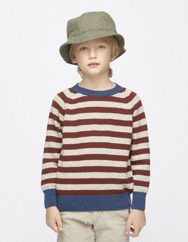 Boy´s nut/terracotta striped jumper - View all > - Nícoli