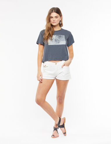 Short poches blanc - The Summer Denim - Nícoli