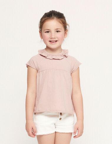 Camiseta corte volante rosa - Ver todo > - Nícoli