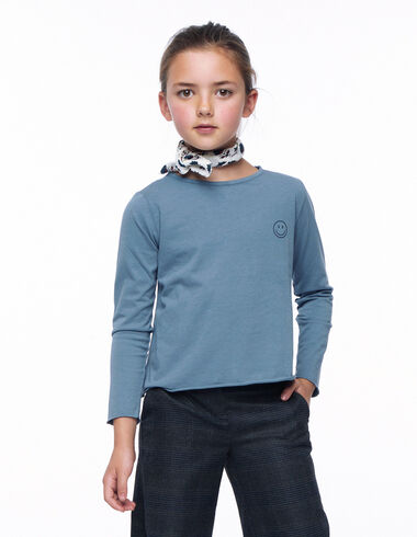 Camiseta manga larga smile azul - Ver todo > - Nícoli