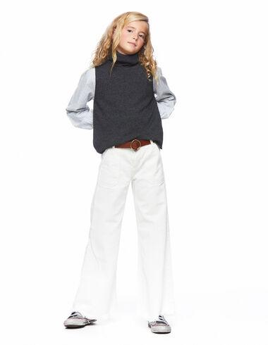 Ecru wide leg trousers pockets - Denim guide - Nícoli