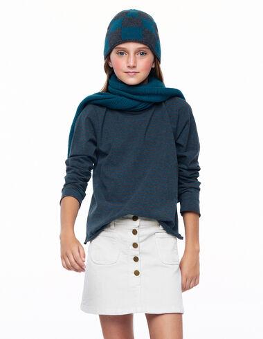 Jupe boutons velours côtelé écru - Skirts for girls! - Nícoli