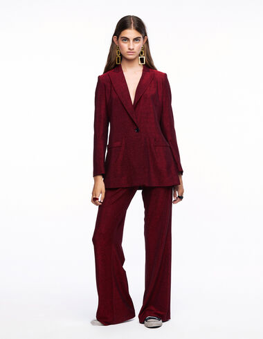 Pantalon à jambe large brillant rouge - More than Black Looks - Nícoli