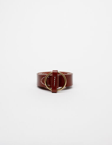 Brown round buckle belt - View all > - Nícoli