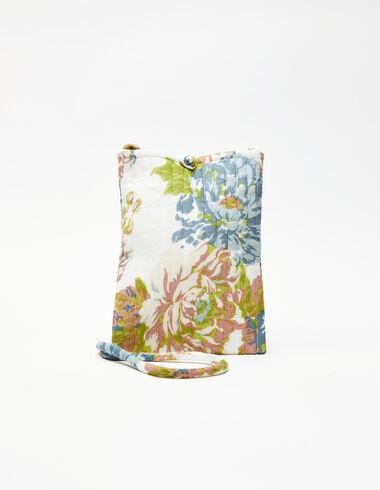 Large blue flower print crossbody bag - View all > - Nícoli