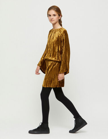 Nut velvet drop waist dress - Christmas - Nícoli