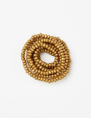 Girl's gold bead necklace - Necklaces - Nícoli