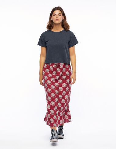 Falda larga flor india caldero - Ver todo > - Nícoli