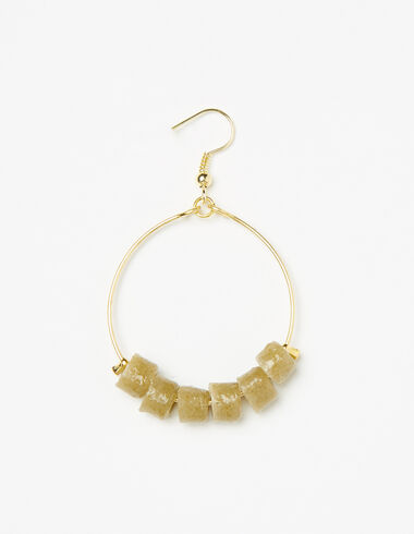 Khaki hoop earrings - View all > - Nícoli