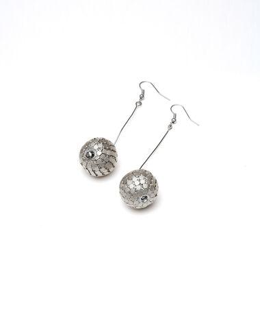 """Disco Ball"" silver earrings - More than Black Looks - Nícoli"