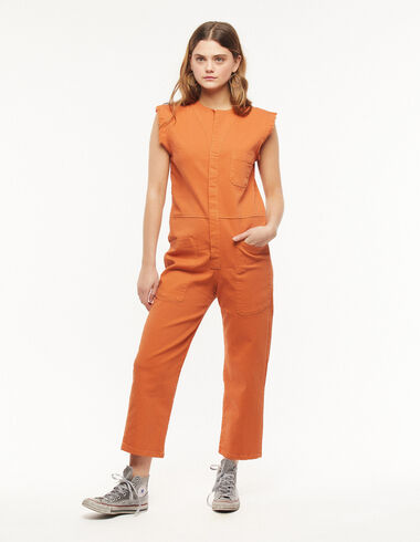 Orange short-sleeve jumpsuit - A Day in Ghent - Nícoli