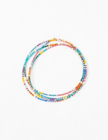 Sautoir billes multicolore segments - Voir tout > - Nícoli