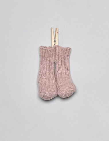 Pink knit baby socks - View all > - Nícoli