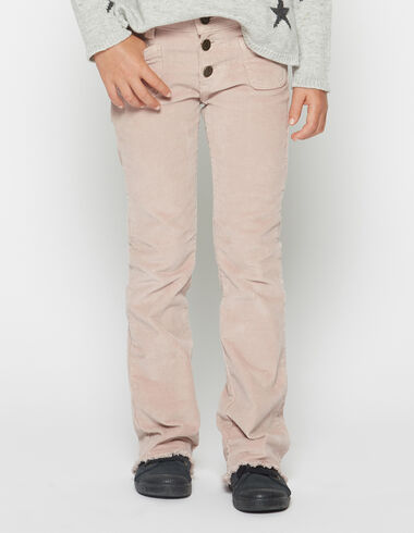 Girl's pink corduroy flared trousers - View all > - Nícoli