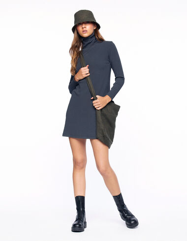 Anthracite turtleneck dress - View all > - Nícoli