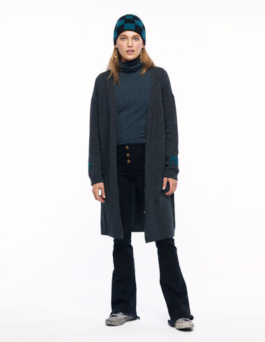 """Long anthracite """"N"""" cardigan - View all > - Nícoli"""