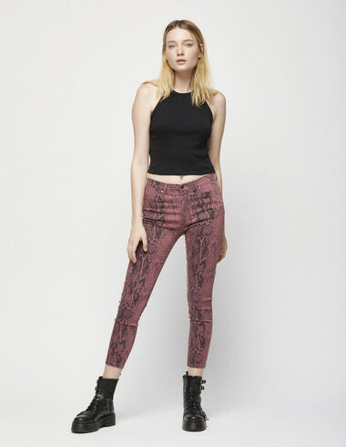 Strawberry animal print skinny trousers - View all > - Nícoli